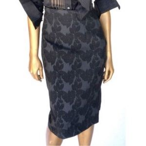 Tracy Reese Embossed Pencil Skirt